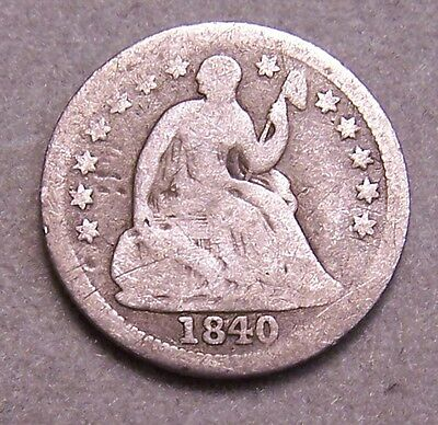 1840 Seated Liberty Half-Dime With Drapery ** Ag Coin **