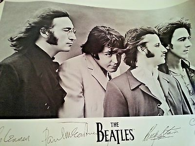 Beatles Poster 1991 Apple Corp. Limited ACL 603 Black & White Litho Signed 24x36