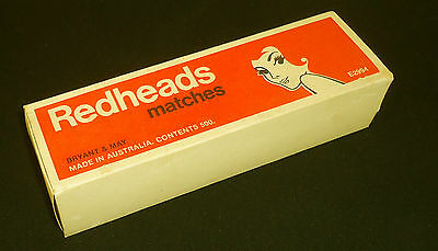 "BRYANT & MAY ""REDHEADS"" MATCHES in ORIGINAL BOX of 500 ( ALL LIVE MATCHES)"