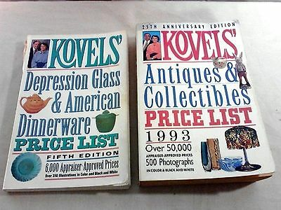 2 Kovels Price List 25th Anniversary 1993 5th Edition c1990 Antiques Collectible
