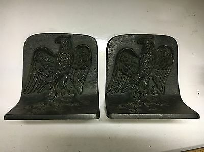 Bradley & Hubbard Eagle Cast Iron Bookends Eagles