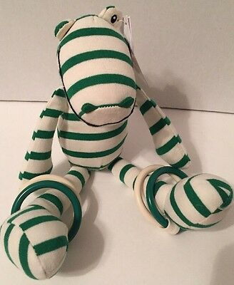 """NWT Jellycat 10"""" ZOOT CROC Baby Plush Toy Rattle"""