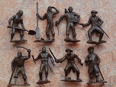 """!!! Toy soldiers miniature PIRATES set 8 figures Original Made in Russia 2,5"""""""