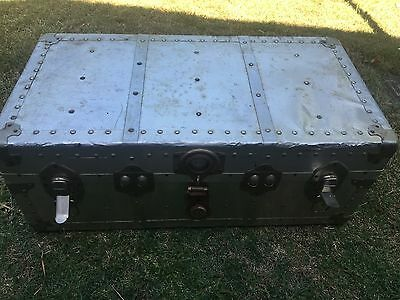 Vintage Cabin Trunk With Leather Handles