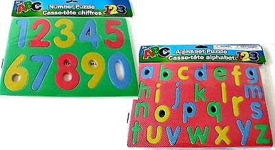 PUZZLES 36x Baby Child FOAM MAT set of 2 Alphabet Number Teaching Toy Gn Red NEW