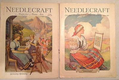 Lot Of 12 Vintage Needlecraft Magazines,1930 To1934, Beautiful Covers, Excellent