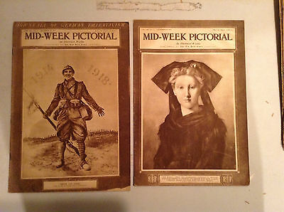 Lot Of 21 Vintage Mid-Week Pictorial  Magazines, 1918 To 1919 V/g To Ex. Cond.