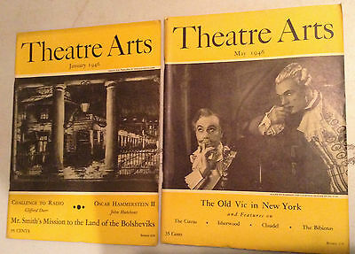 Lot Of 12  Vintage Theatre Arts Magazines,  1946 To 1947 V/g+ Cond.