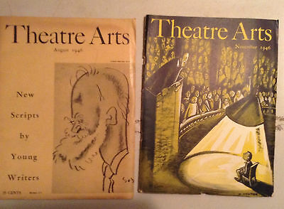 Lot Of 16  Vintage Theatre Arts Magazines,  1939 To 1946 V/g To Fine Cond.