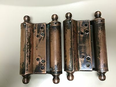 Antique Bommer Spring Loaded Double Action Saloon Swinging Door Hinges