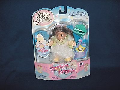 1997 Vintage LUCKY Precious Moments Pocket Angels Doll Rose Art New in Package