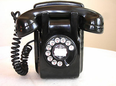 North Electric Bakelite Art Deco Wall Antique Telephone Restored Ready To Use