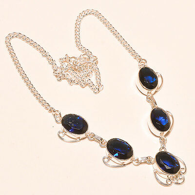 Gorgeous Tanzanite Gemstone 925 Sterling Silver Necklace 17-18""