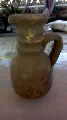 An clay replica of a miniature oil pitcher Roman era herodion from jerusalem