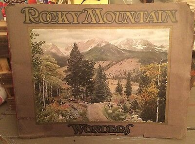 1913 ROCKY MOUNTAIN WONDERS Smith-Brooks Western Railroad Advertising Prints