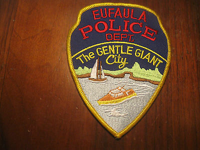Eufaula Oklahoma Police Patch (Gentle Giant Version)