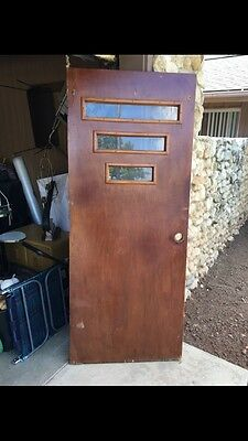 Rare Mid Century Front Door Retro Vintage Atomic 50's 31 3/4 wide 77 5/8 tall