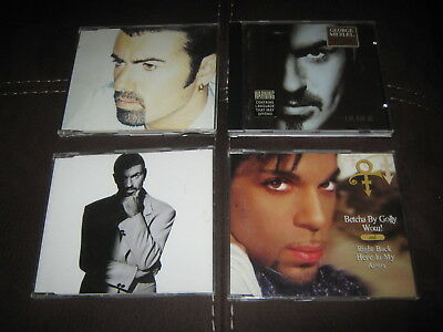 4 CDs GEORGE MICHAEL x 2 OLDER FAST LOVE + PRINCE WOW + THE BEST OF CULTURE CLUB