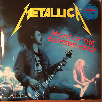 Metallica Night of the banging head, Palo Alto 1983 rare blue vinyl 2 LP