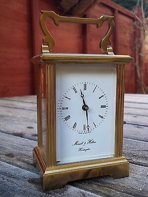 Antique, Vintage English Made Carriage Clock, 8 Day, Morrell & Hilton.