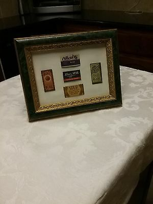 Collectible packaged razor set in frame