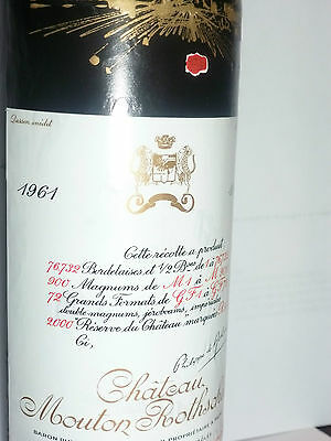 Chateau Mouton Rothschild 1961