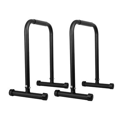 Fitness Chin Up Dip Parallel Bars Black Gym Weight Bar Pull Exercise Durable New
