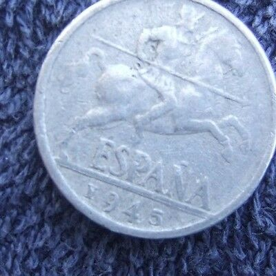 Rare  1945    **    Diez   Cents   **     Coin   Great  Features .