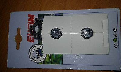 EHEIM 4014100 - 12mm SUCTION CUP/ PIPE CLIP x 2. AQUARIUM