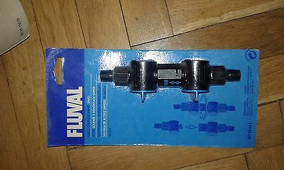 Fluval quick release valve aquarium filter double tap small art № 641