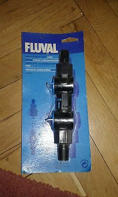 Fluval quick release valve aquarium filter double tap large art № 244
