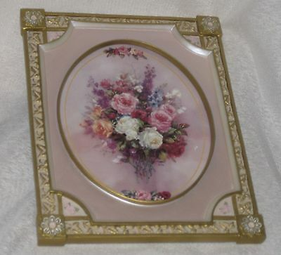 Bradford Exchange Collectable Rose Picture Cameo Of Roses Limited Edition 1st
