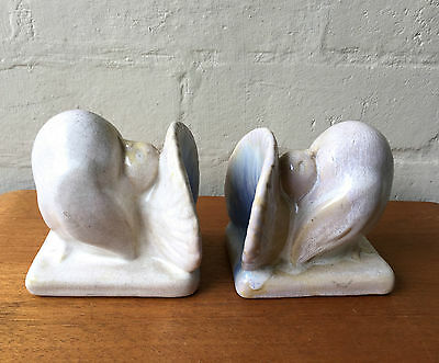 Nell & Robert McCredie Pottery Dove Bookends 1930's