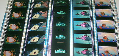 Disney's - The Little Mermaid -  Rare Unmounted 35mm Film Cells - 5 Strips