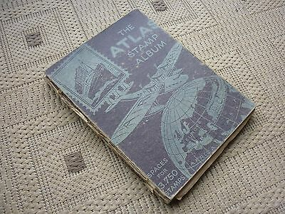 Old Stamp Album / Collection Containing 1200 Stamps  Gb World Lots Of Victorian