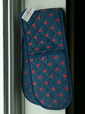 Cath Kidston - Vintage BNWT - Blue and red spot Oven Gloves