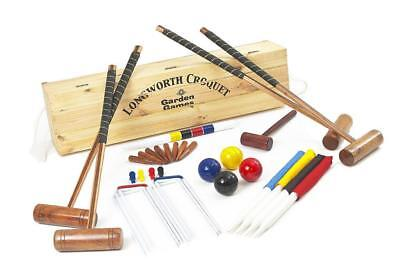 Garden Games Longworth Croquet Set (boxed, 4 player)