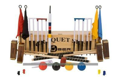 Uber Championship Croquet Set in a wooden box