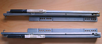 Pair (left and right)  of Hettich 460mm extension soft-close drawer runners