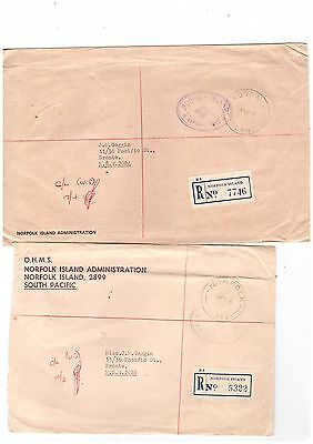 Norfolk Island 1979/88 Official Covers  ( 2 Covers )