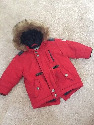 Baby Red Next Coat 6-9 Months
