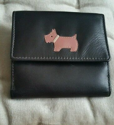Radley Brown Purse Wallet with Pink Lining