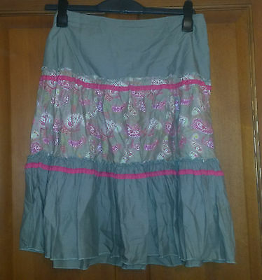H&M Girls Kids Green and Pink Patterned Skirt Size EUR 164