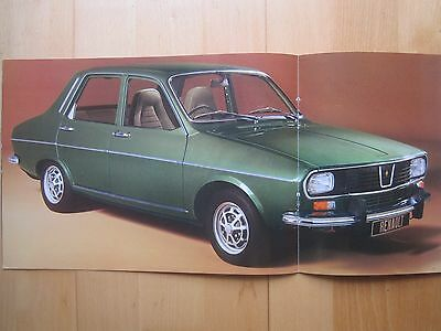 Renault 12 TS TL L Saloon & Estate Brochure 1972/73, 16 pages in Good Condition