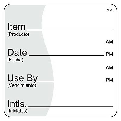 "DayMark Safety Systems DayMark IT112475 MoveMark Use by Removable Label, 2"" x 2"""