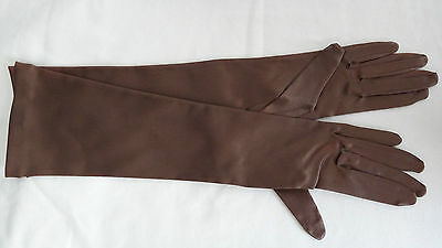 Vintage Chocolate Brown Colour Dents Gloves Size 7
