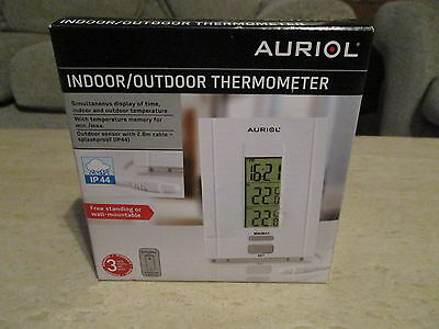 AURIOL Indoor/ Outdoor Thermometer, NEW
