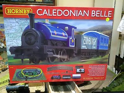 Hornby NEW Caledonian Belle train set + free Woodlands Scenics DVD