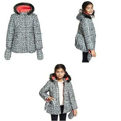 Marks and Spencer Animal Padded Coat with Faux Fur Age 2- 3 Years