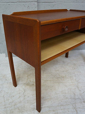 Late 20th Century teak Two drawer side table / unit / bedside cabinet